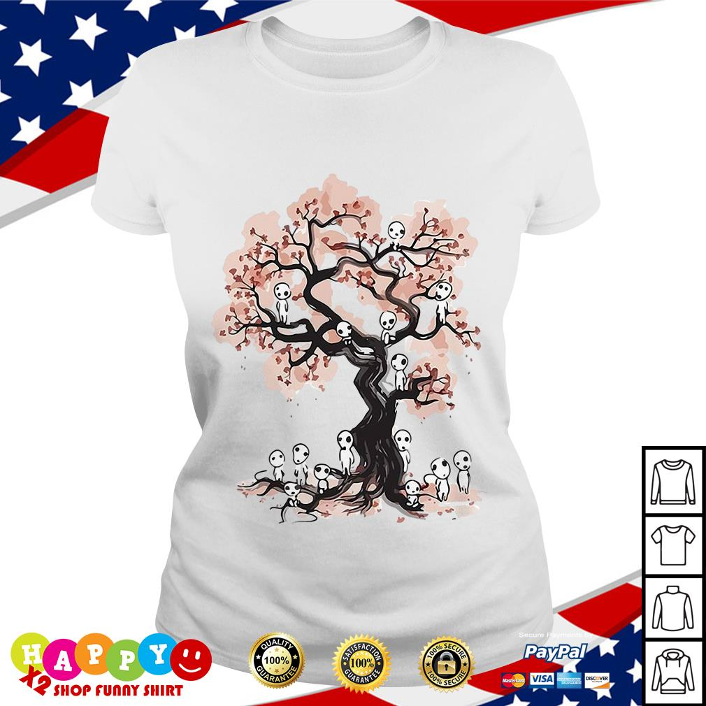 Aliens in willow tree shirt Ladies Tee