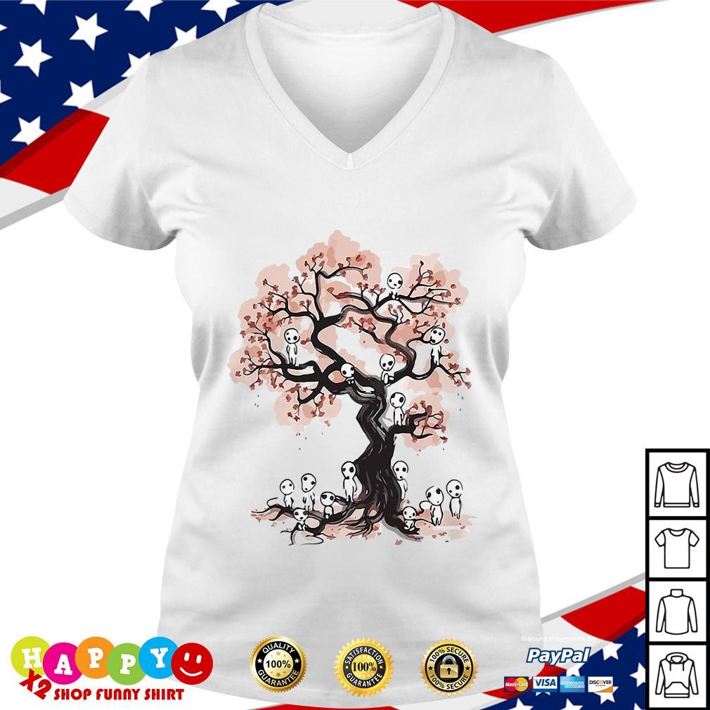 Aliens in willow tree shirt V-neck T-shirt