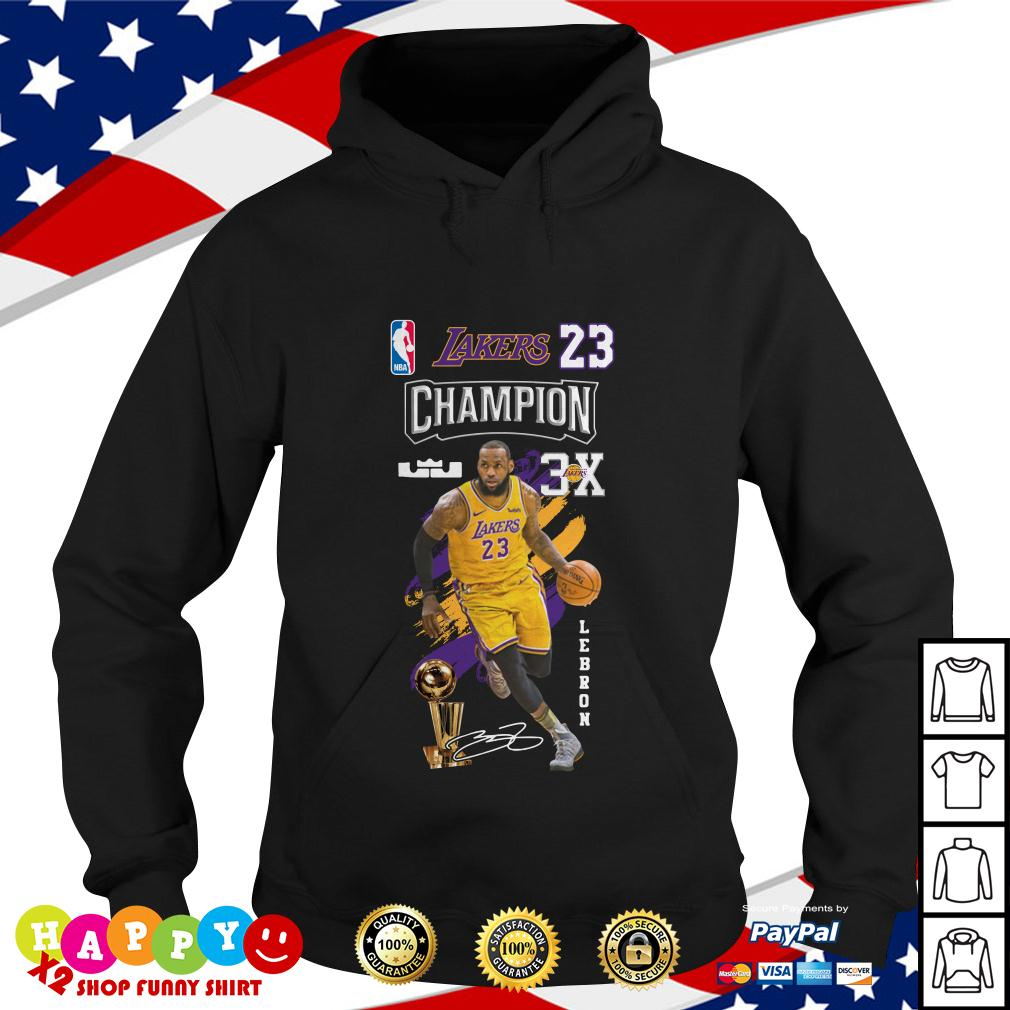 a642bb78b461 Lebron James NBA Los Angeles Lakers 23 Champion 3X shirt by T-shirtat,  hoodie, sweater and v-neck t-shirt