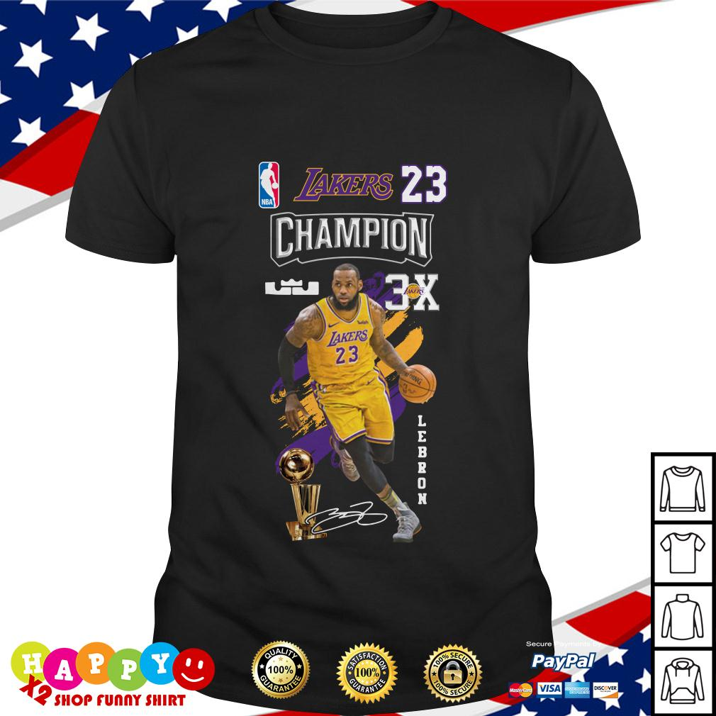 a542f154e5ae Lebron James NBA Los Angeles Lakers 23 Champion 3X shirt by T-shirtat