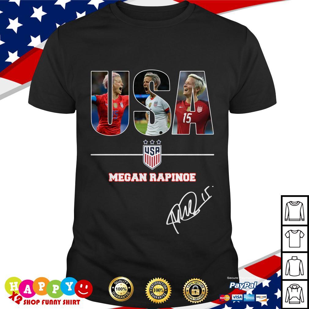new styles 6b093 af2d3 USA women's soccer team Megan Rapinoe signature shirt by T-shirtat