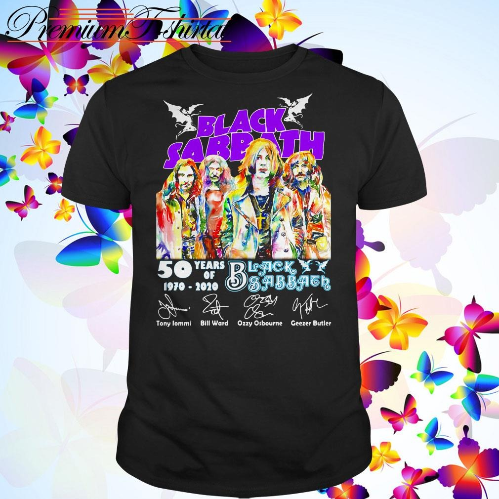 50 Years of Black Sabbath 1970-2020 signatures shirt