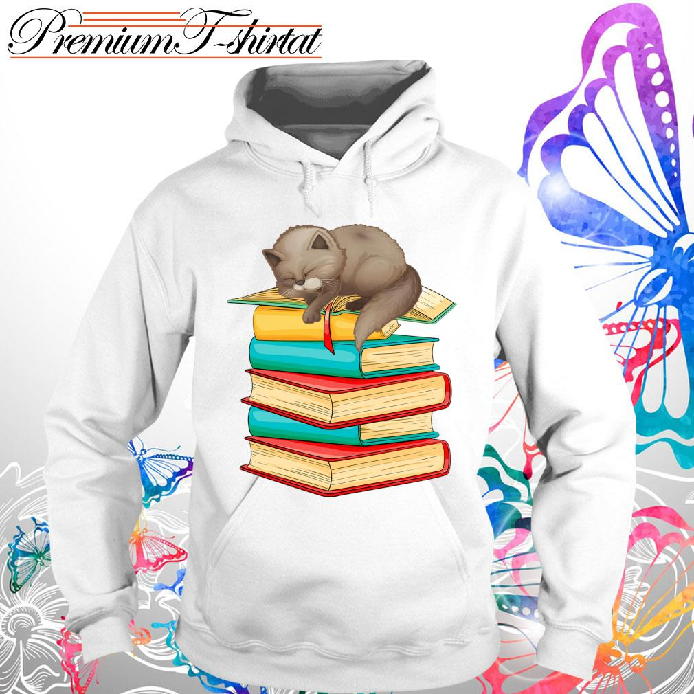 Cats sleep with books s Hoodie
