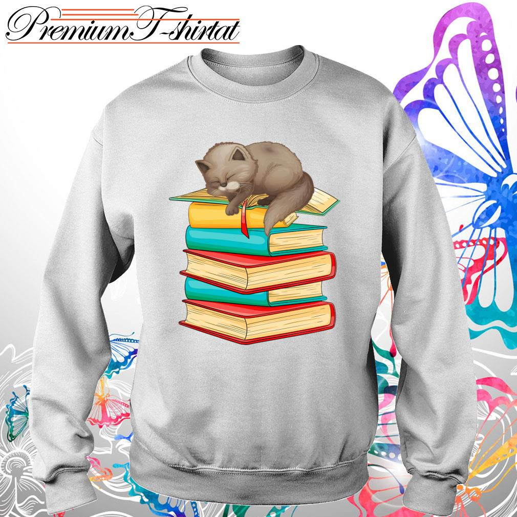 Cats sleep with books s Sweater