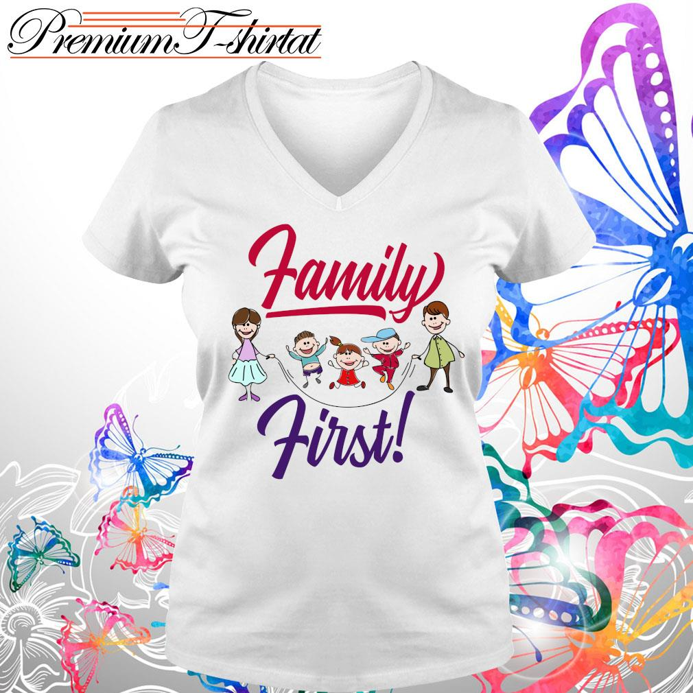 Children family first s V-neck t-shirt