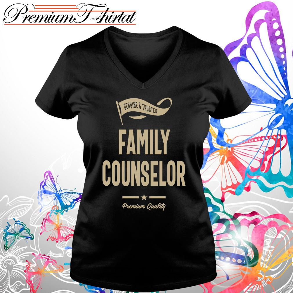 Genuine and trusted family counselor shirt premium quality s V-neck t-shirt