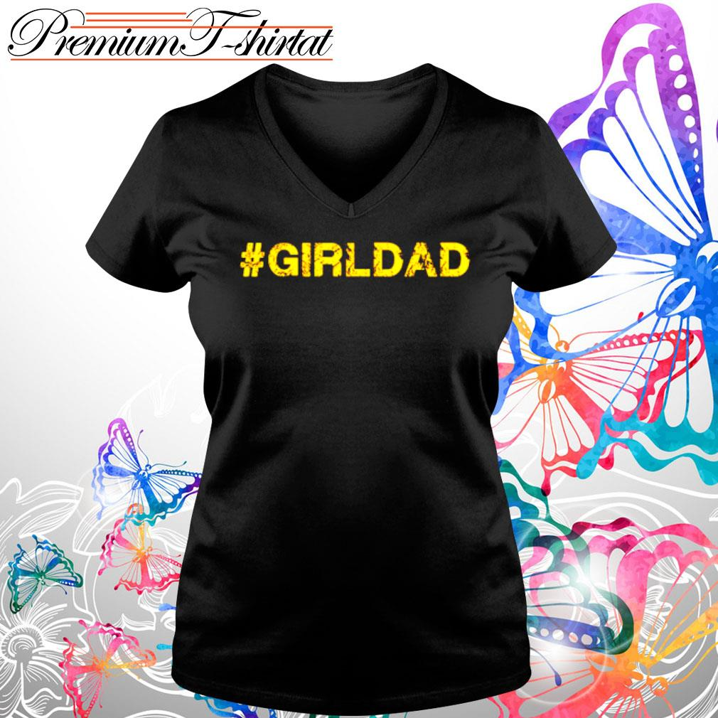 #girldad girl dad father s V-neck t-shirt