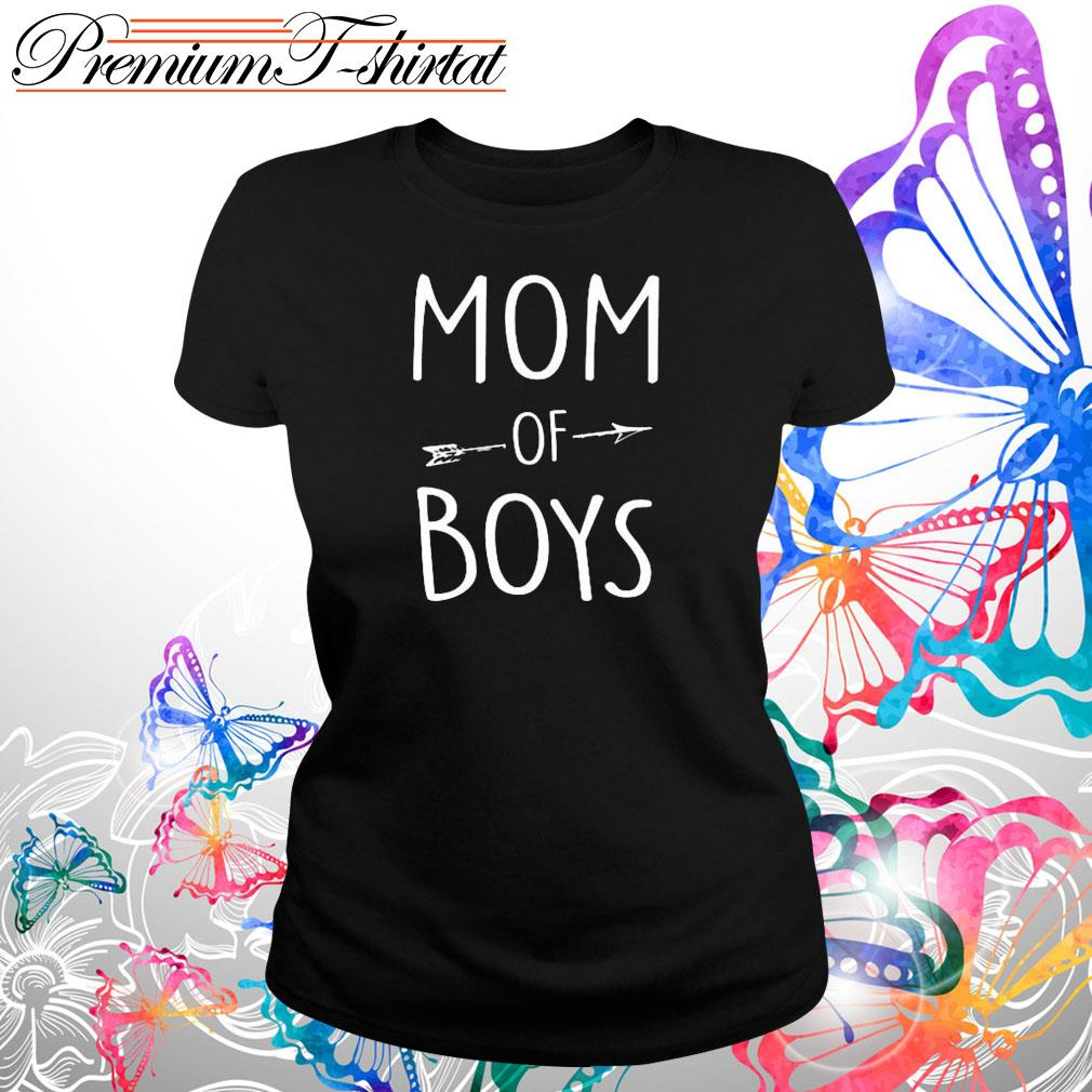 Mom of boys s Ladies tee