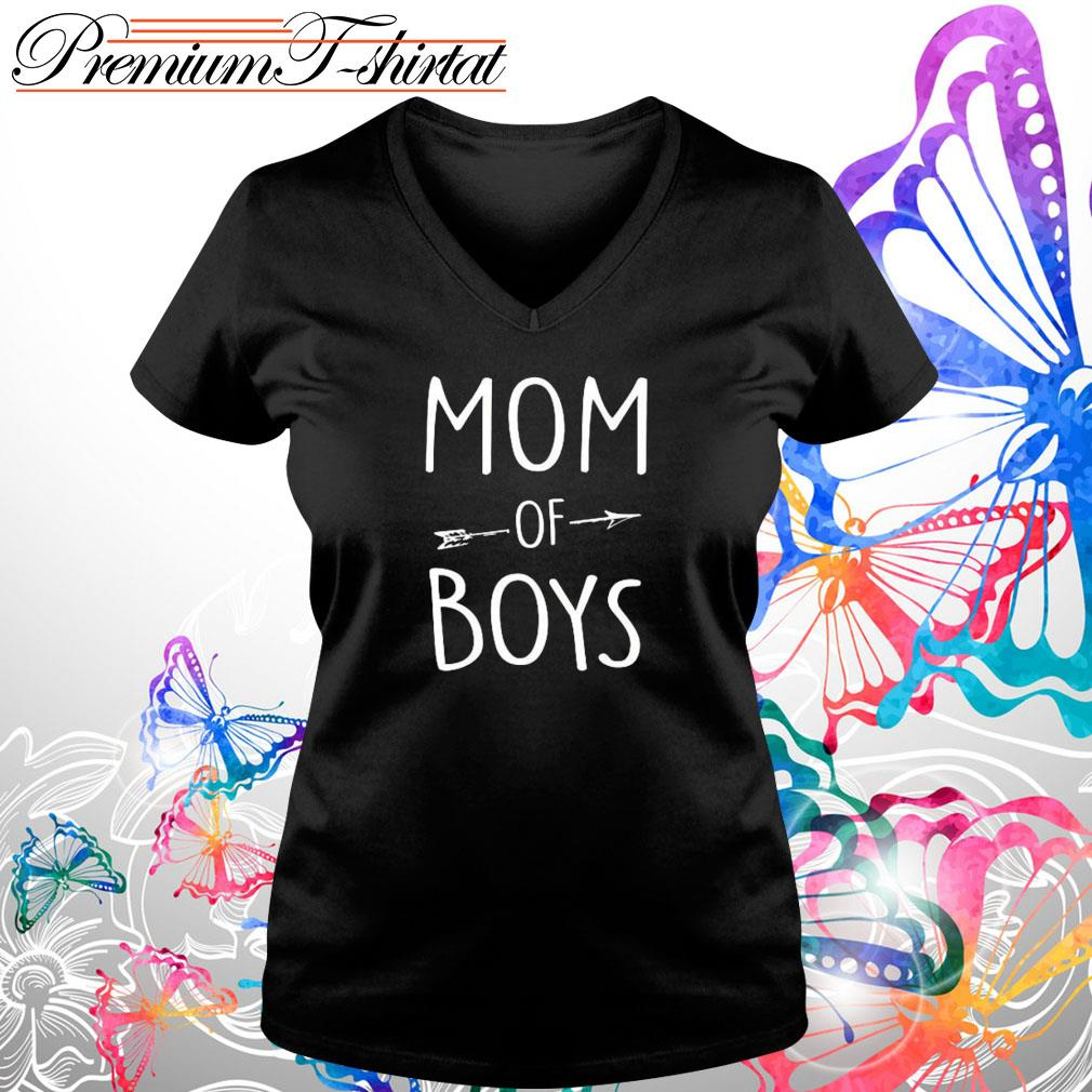 Mom of boys s V-neck t-shirt