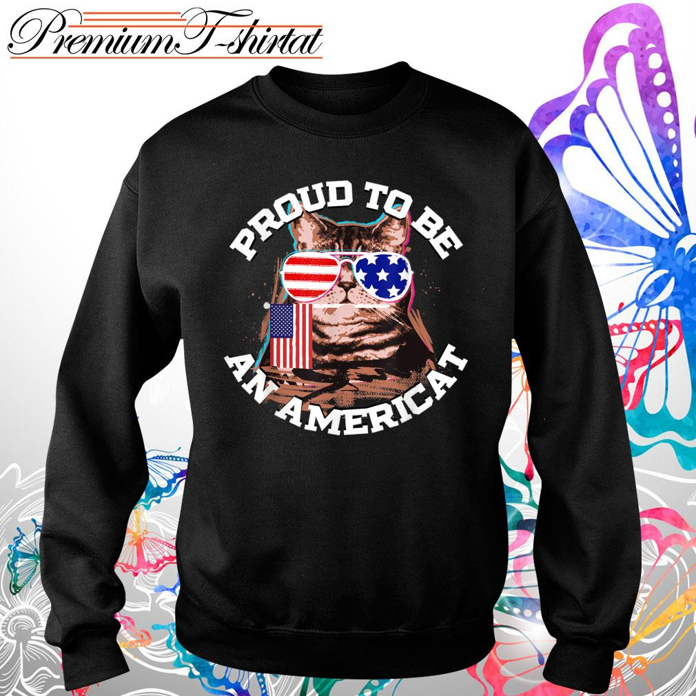 Proud to be an Americat s Sweater