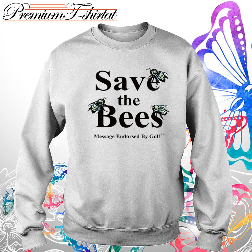 Save the Bees message endorsed by golf s Sweater