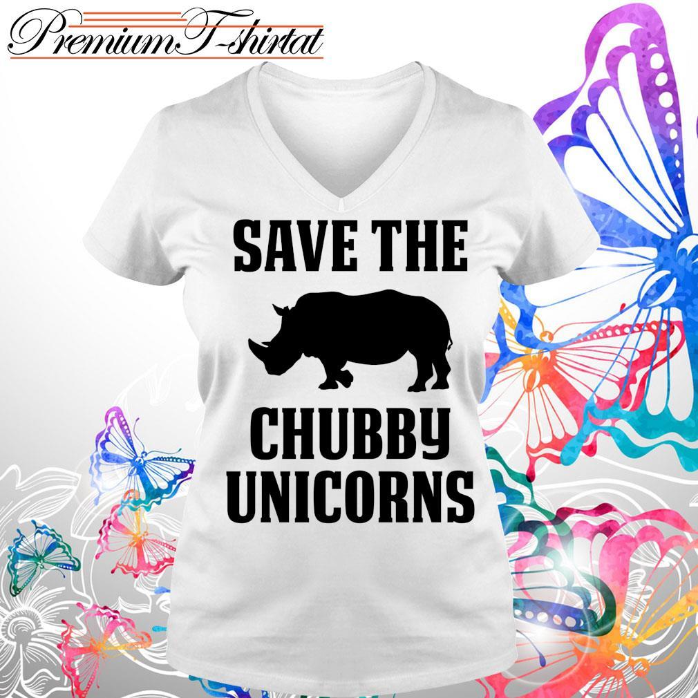 Save the Chubby Unicorns s V-neck t-shirt