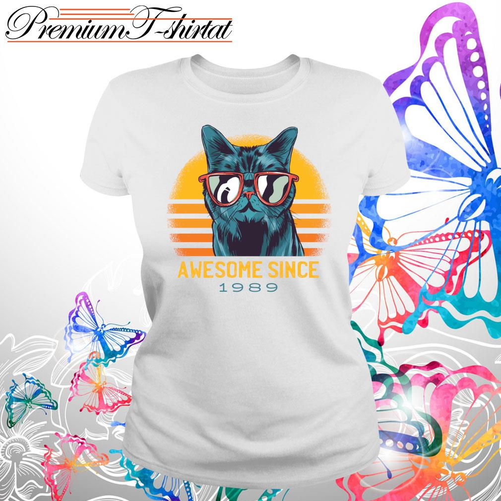 Vintage cats awesome since 1989 s Ladies tee